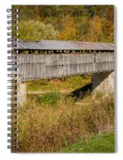 Beech Fork Or Mooresville Covered Bridge Spiral Notebook