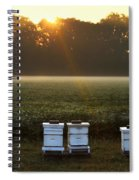 Beehives At Sunrise Spiral Notebook