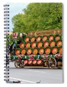 Beer Barrels On Cart Spiral Notebook