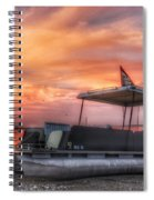 Beer Can Island Sunset Spiral Notebook