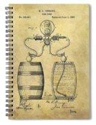 Beer Pump Patent Spiral Notebook