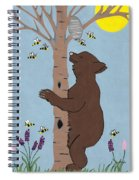 Bees And The Bear Spiral Notebook