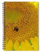 Bees Share A Sunflower Spiral Notebook
