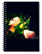 Beetle Hanging Out With Hibiscus Flowers Spiral Notebook