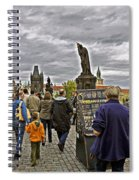 Before The Rain On The Charles Bridge Spiral Notebook