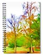 Beginning Of Autumn Spiral Notebook