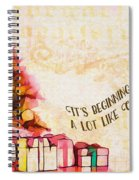 Beginning To Look Like Christmas Card 2017 Spiral Notebook
