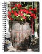 Begonias In The Barrel Spiral Notebook