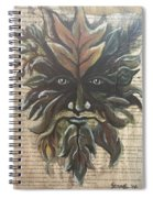 Beguiling Green Man Spiral Notebook