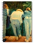 Behind Spiral Notebook