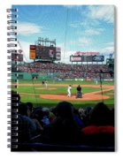 Behind Home Plate At Fenway Spiral Notebook