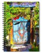 Behind The Blue Door Spiral Notebook