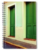 Behind The Green Doors Spiral Notebook
