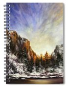 Behind The Mountains  Spiral Notebook