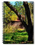 Behind The Old Oak Tree Spiral Notebook