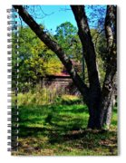 Behind The Old Oak Tree Vertical Spiral Notebook