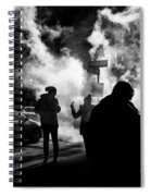 Behind The Smoke Spiral Notebook