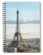 Paris Roofs And Tower Spiral Notebook