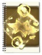 Beige Moons Spiral Notebook