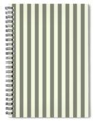 Beige White Striped Pattern Design Spiral Notebook