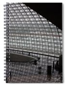 Beijing National Theatre With Silhouettes  Spiral Notebook