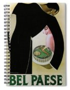 Bel Paese - Melzo, Italy - Vintage Cheese Advertising Poster Spiral Notebook
