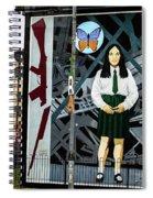 Belfast Mural - Butterfly - Ireland Spiral Notebook