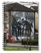 Belfast Mural - Civil Rights Association - Ireland Spiral Notebook