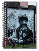 Belfast Mural - Face Mask - Ireland Spiral Notebook