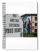 Belfast Mural - Free Derry - Ireland Spiral Notebook