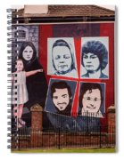 Belfast Mural - Ireland Spiral Notebook