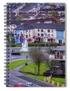 Belfast Mural - Derry Neighborhood - Ireland Spiral Notebook