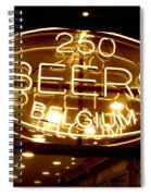 Belgian Beer Sign Spiral Notebook