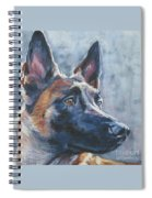 Belgian Malinois In Winter Spiral Notebook