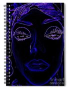 Belinda In Blue Spiral Notebook