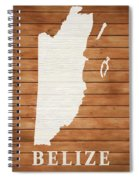 Belize Rustic Map On Wood Spiral Notebook