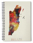 Belize Watercolor Map Spiral Notebook