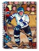 Bell Center Hockey Art Goalie Carey Price Makes A Save Original 6 Teams Habs Vs Leafs Carole Spandau Spiral Notebook