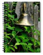 Bell On The Garden Gate  Spiral Notebook