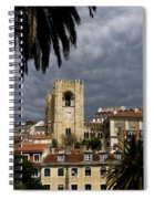 Bell Tower Against Roiling Sky Spiral Notebook