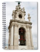 Bell Tower With Red   Spiral Notebook