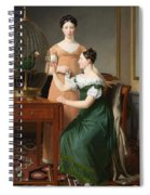 Bella And Hanna. The Eldest Daughters Of M.l. Nathanson Spiral Notebook