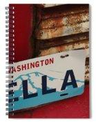 Bella License Plate Spiral Notebook