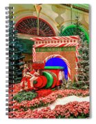 Bellagio Christmas Train Decorations Angled 2017 2 To 1 Aspect Ratio Spiral Notebook