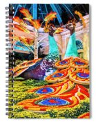 Bellagio Conservatory Fall Peacock Display Side View Wide 2 To 1 Ratio Spiral Notebook