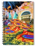 Bellagio Conservatory Fall Peacock Display Side View Wide 2017 Spiral Notebook