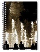 Bellagio Fountain At Night Spiral Notebook
