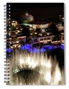 Bellagio Hotel Fountain Spiral Notebook