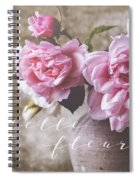 Belle Fleur Pink Peonies Spiral Notebook
