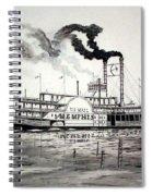 Belle Of Memphis Spiral Notebook
